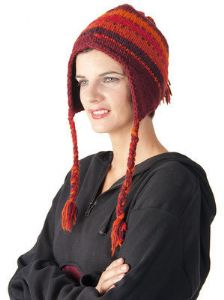 Hat~Pure Woollen Hat with Fleece Lining and Earflaps~By Bares & Folio Gothic Hippy~S104 ~